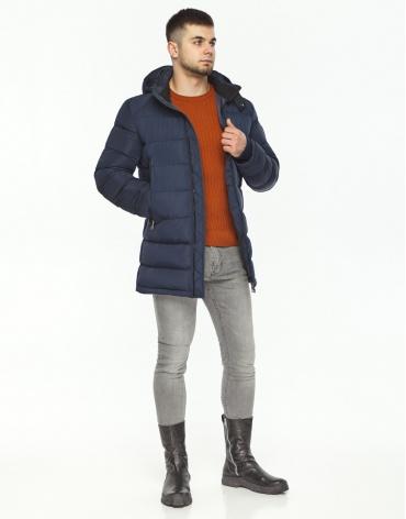 Трендовая куртка мужская синего цвета модель 36470 фото 1