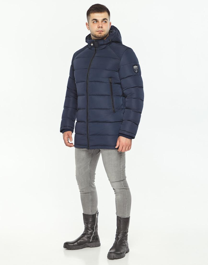 Трендовая куртка мужская синего цвета модель 36470 фото 3