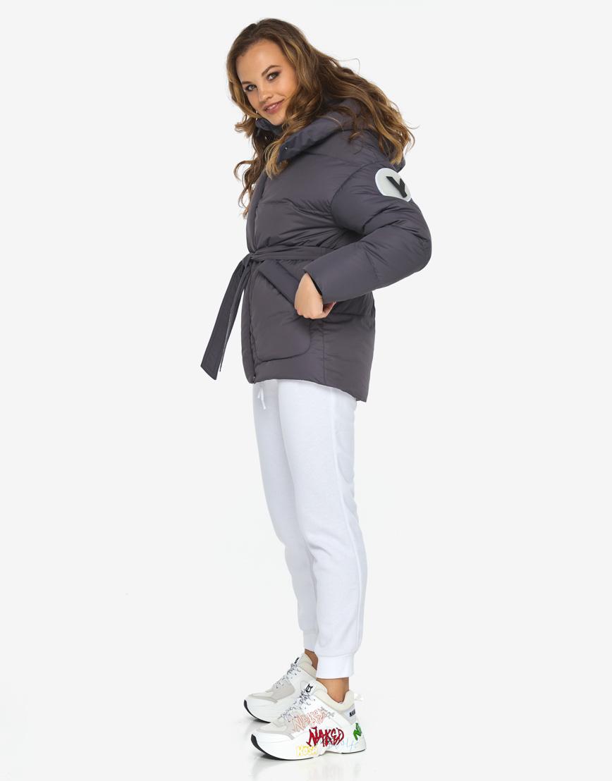 Пуховик куртка Youth молодежная модная графитовая модель 24350 фото 3