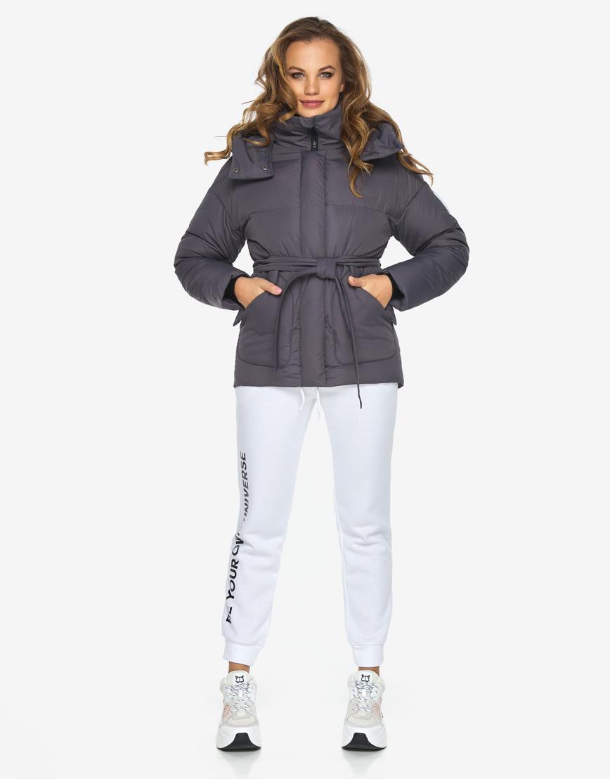 Пуховик куртка Youth молодежная модная графитовая модель 24350 фото 4