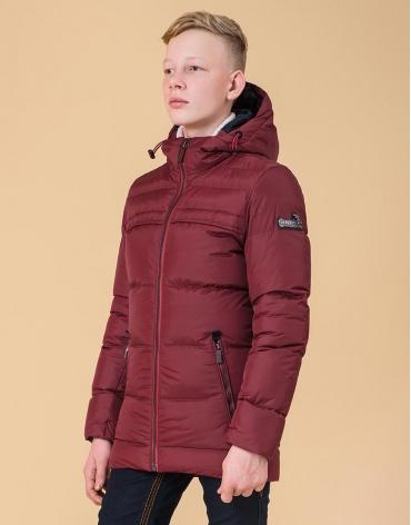 Куртка детская цвет бордово-красный модель 65122