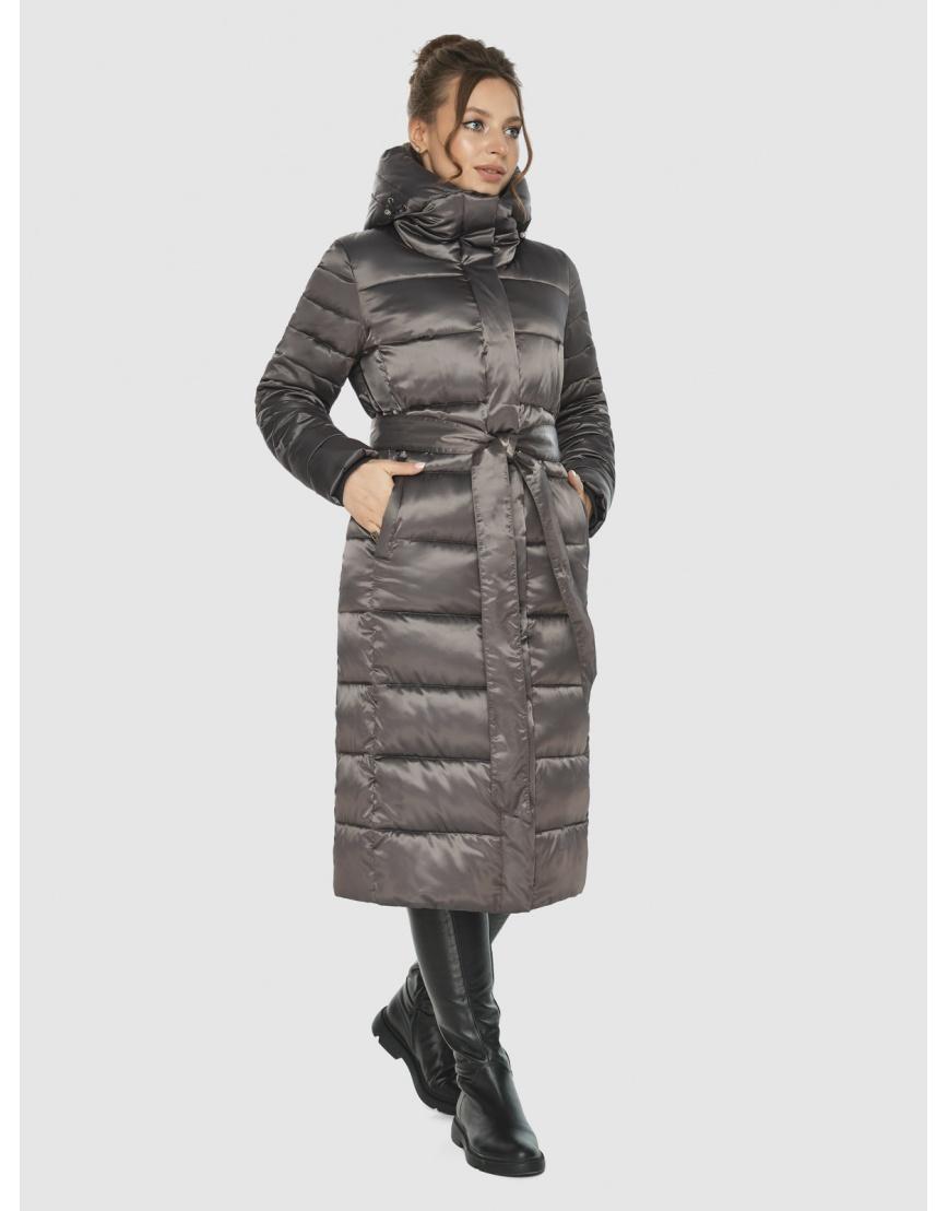 Подростковая капучиновая куртка Ajento модная на зиму 21152 фото 2