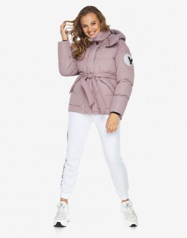 Куртка пуховик Youth женский молодежный цвет пудра модель 24350 фото 1
