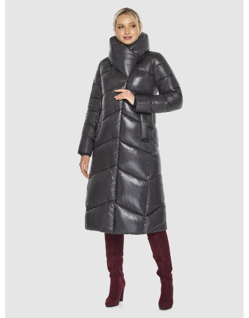 Куртка люксовая женская Kiro Tokao серая 60035 фото 5