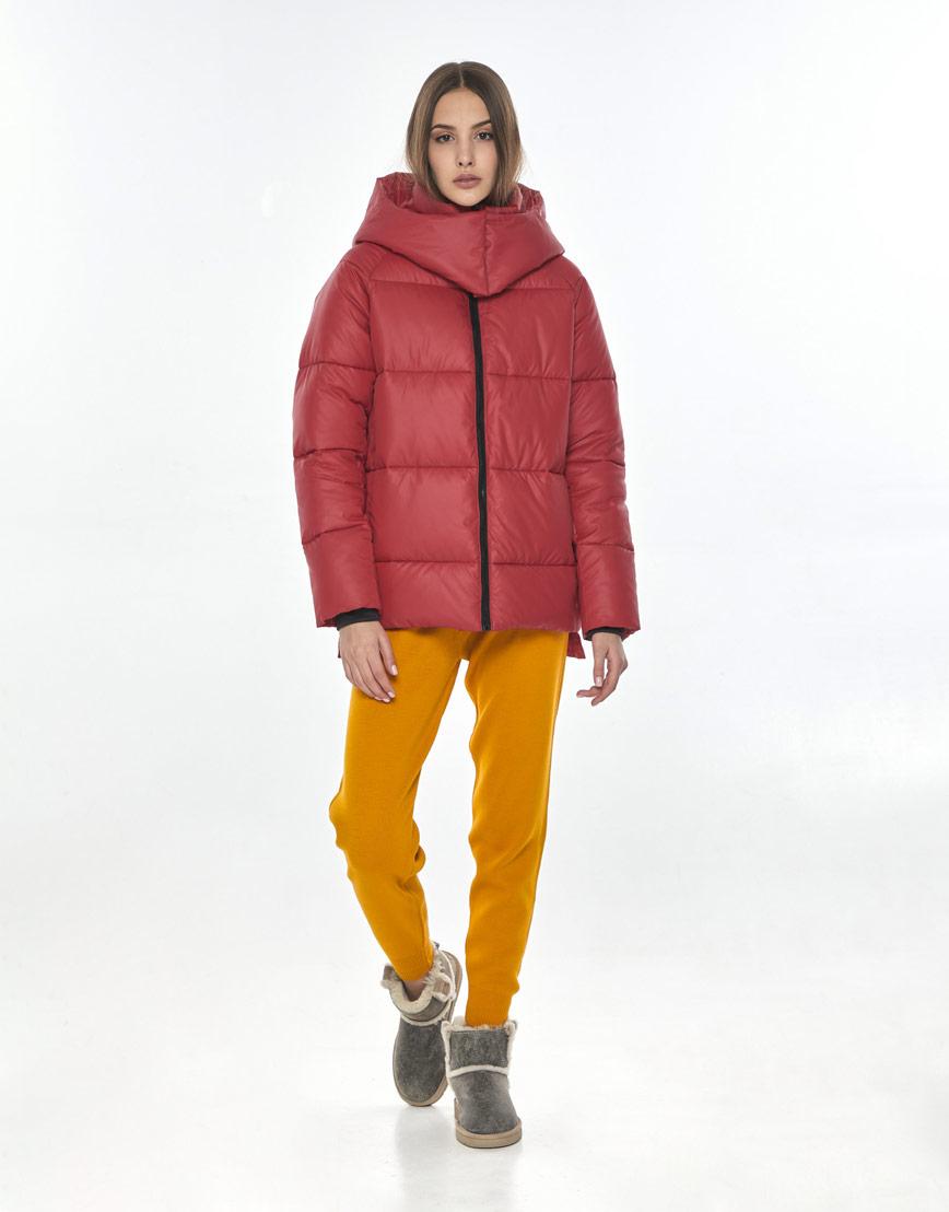 Женская красная куртка Vivacana осенняя 7354/21 фото 1