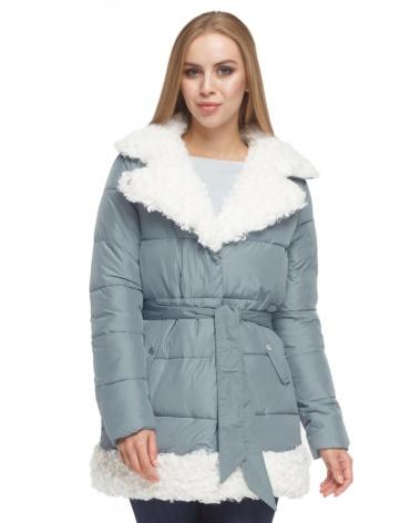 Голубая женская куртка оригинальная модель 5153