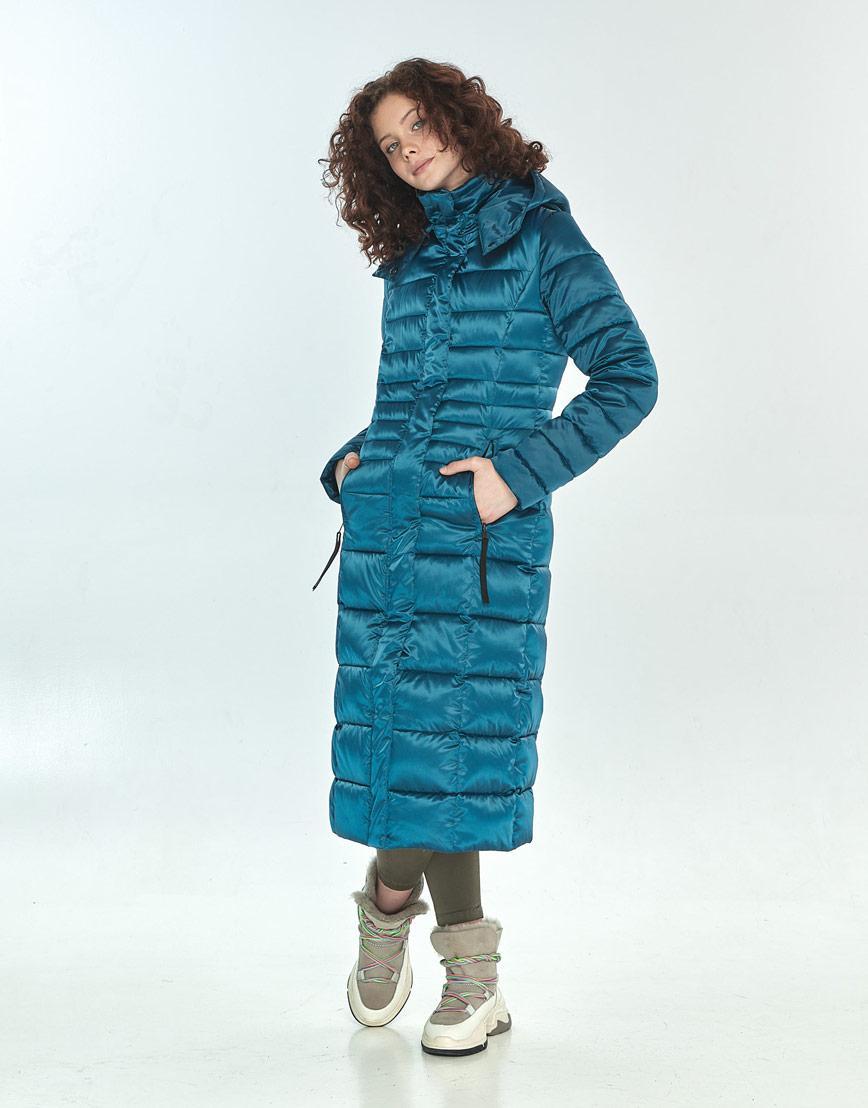 Куртка аквамариновая женская Moc практичная зимняя M6430 фото 1