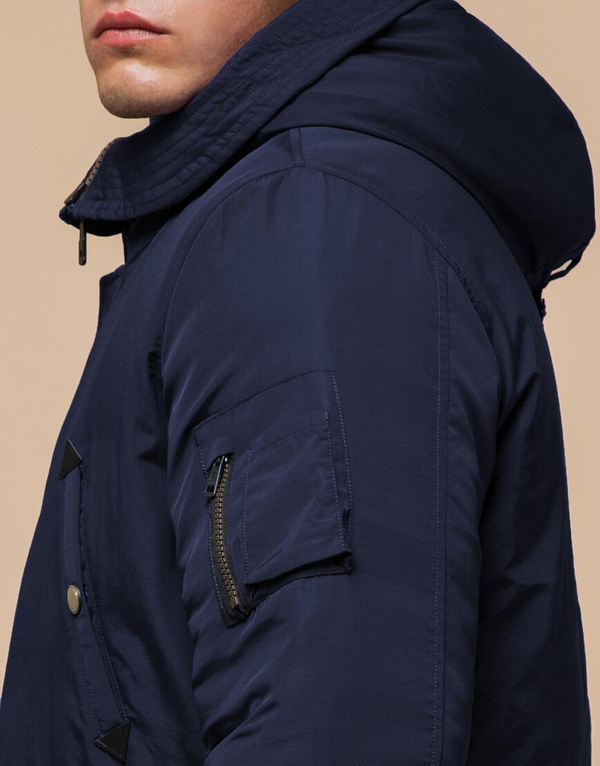 Синяя парка мужская на зиму модель 90520 оптом
