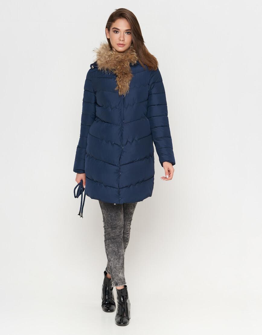 Куртка синяя женская на зиму модель 9087 фото 1