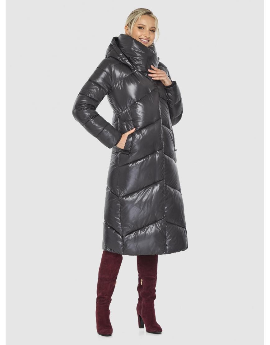 Куртка люксовая женская Kiro Tokao серая 60035 фото 1