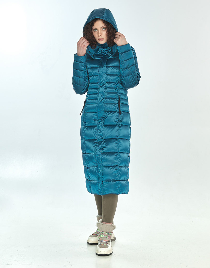 Куртка аквамариновая женская Moc практичная зимняя M6430 фото 2