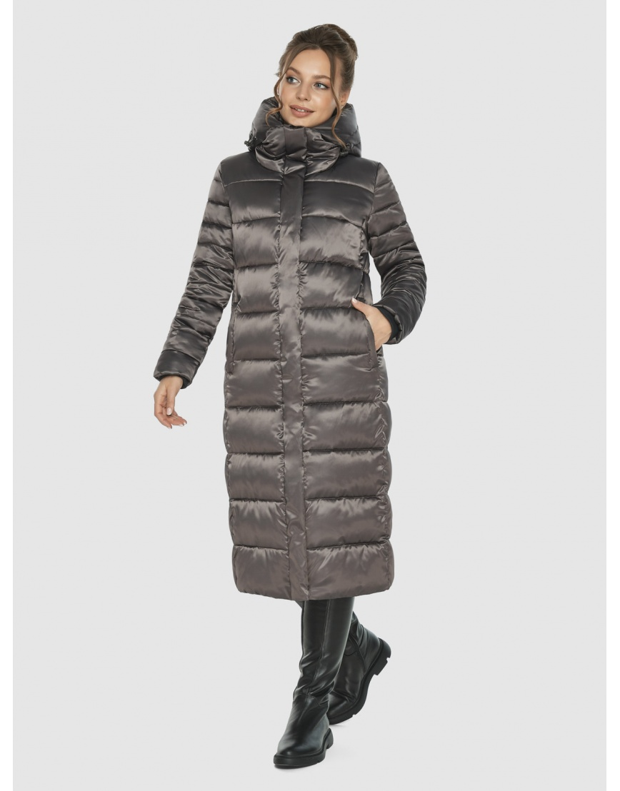Подростковая капучиновая куртка Ajento модная на зиму 21152 фото 3
