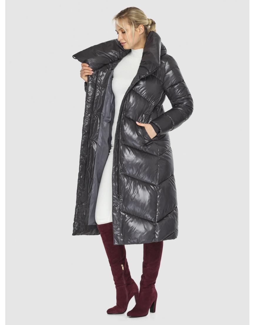 Куртка люксовая женская Kiro Tokao серая 60035 фото 6