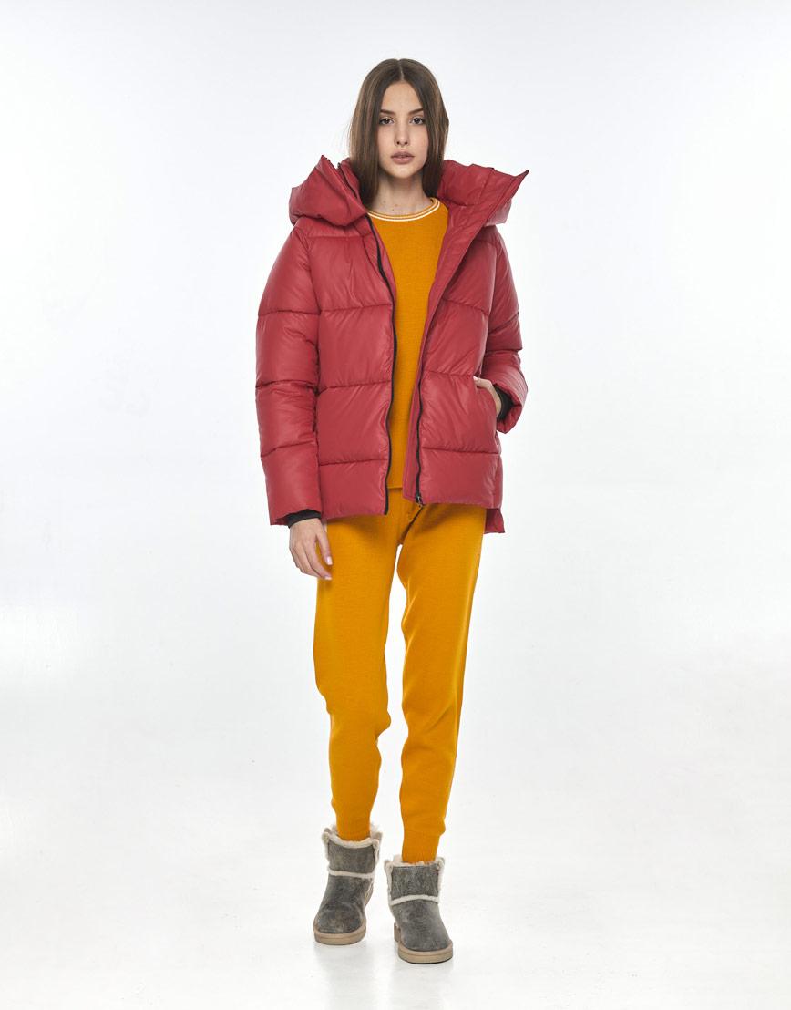 Женская красная куртка Vivacana осенняя 7354/21 фото 2