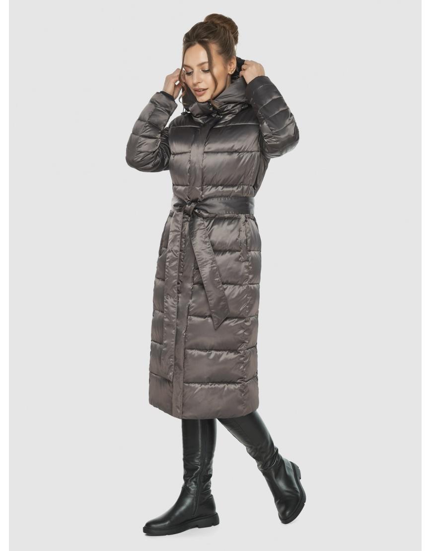 Подростковая капучиновая куртка Ajento модная на зиму 21152 фото 5