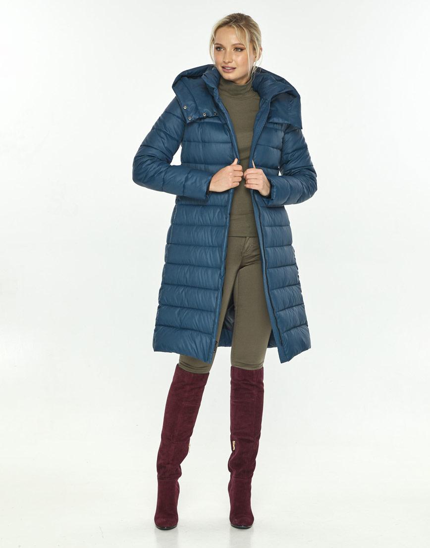 Фирменная куртка большого размера женская Kiro Tokao синяя 60084 фото 2