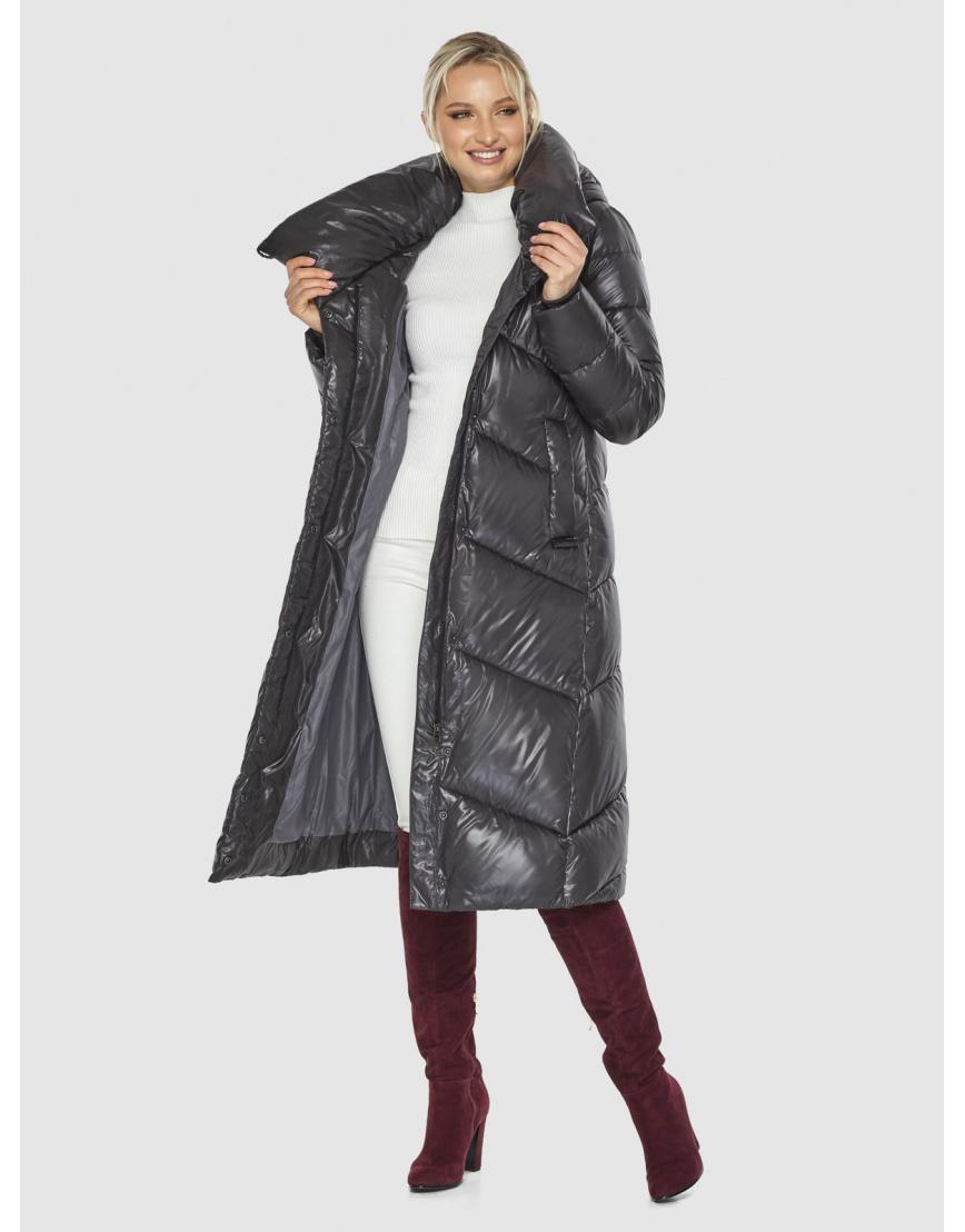 Куртка люксовая женская Kiro Tokao серая 60035 фото 2