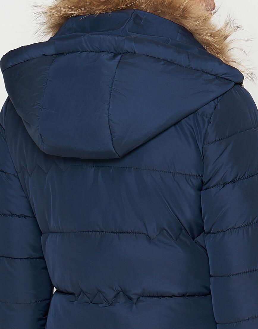 Куртка синяя женская на зиму модель 9087 фото 7