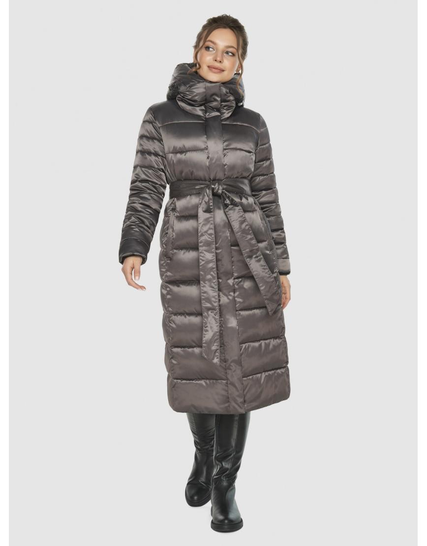 Подростковая капучиновая куртка Ajento модная на зиму 21152 фото 1