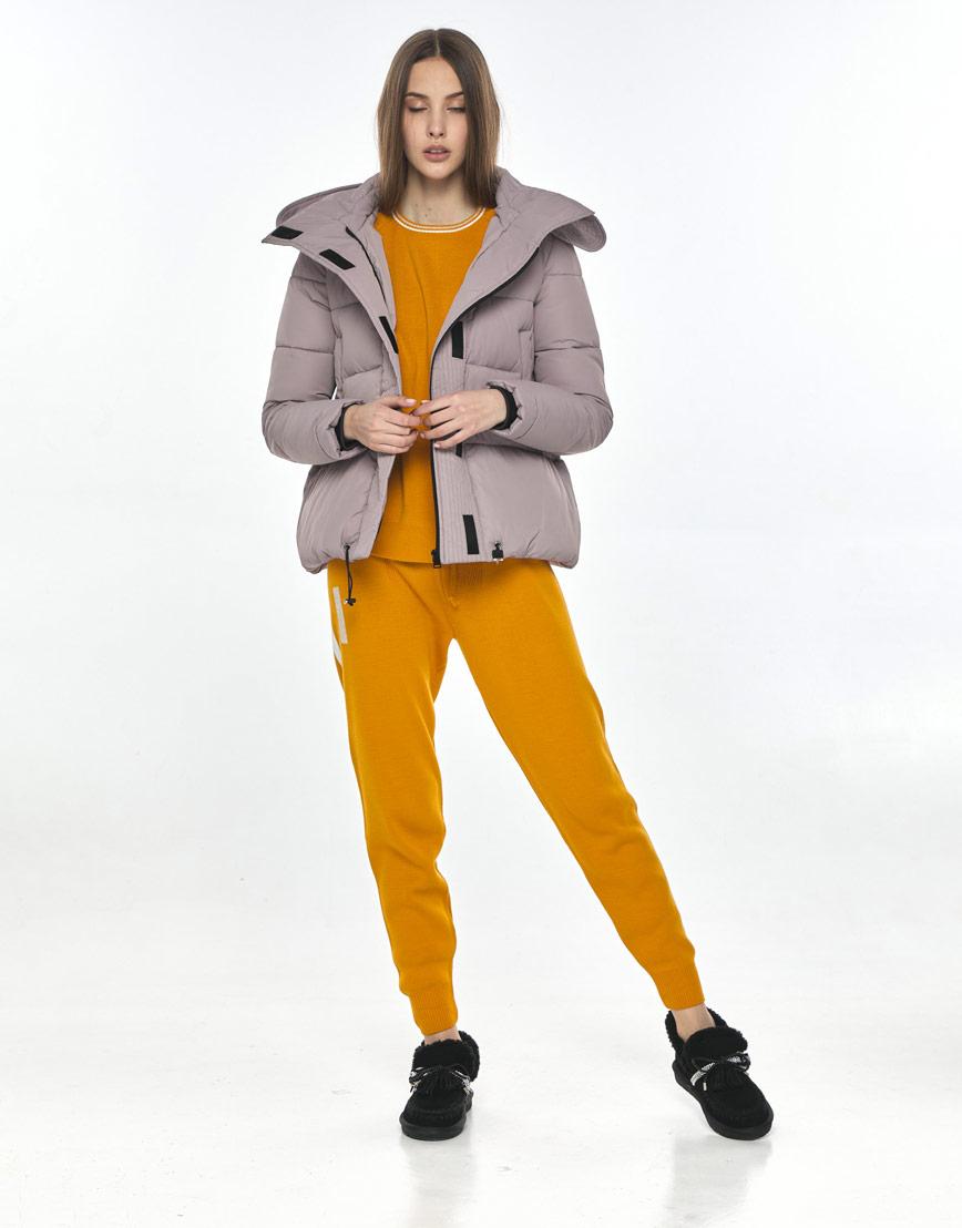 Оригинальная женская куртка Vivacana пудровая 9742/21 фото 2