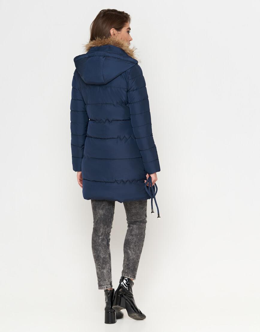 Куртка синяя женская на зиму модель 9087 фото 4
