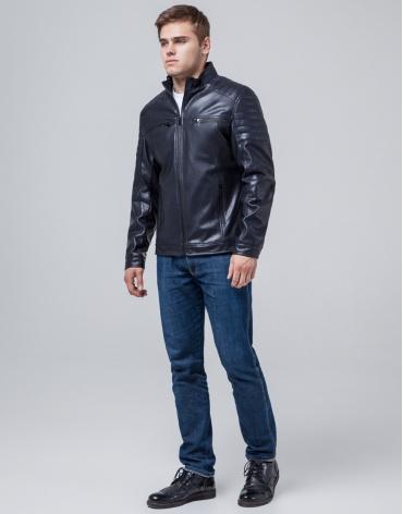 Куртка современная темно-синяя осенне-весенняя модель 3645 фото 1