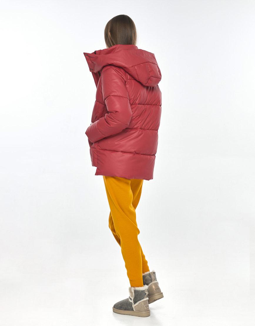 Женская красная куртка Vivacana осенняя 7354/21 фото 3