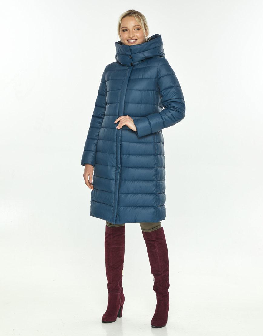 Фирменная куртка большого размера женская Kiro Tokao синяя 60084 фото 1