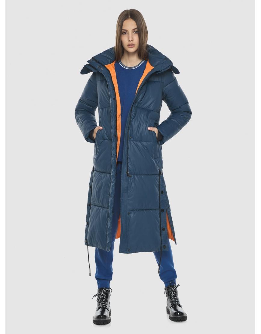 Удлинённая куртка Vivacana синяя женская 7654/21 фото 6