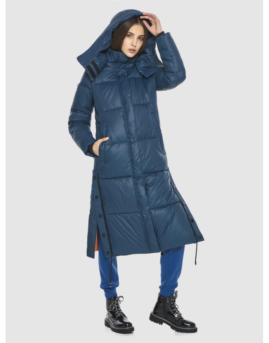 Удлинённая куртка Vivacana синяя женская 7654/21 фото 3