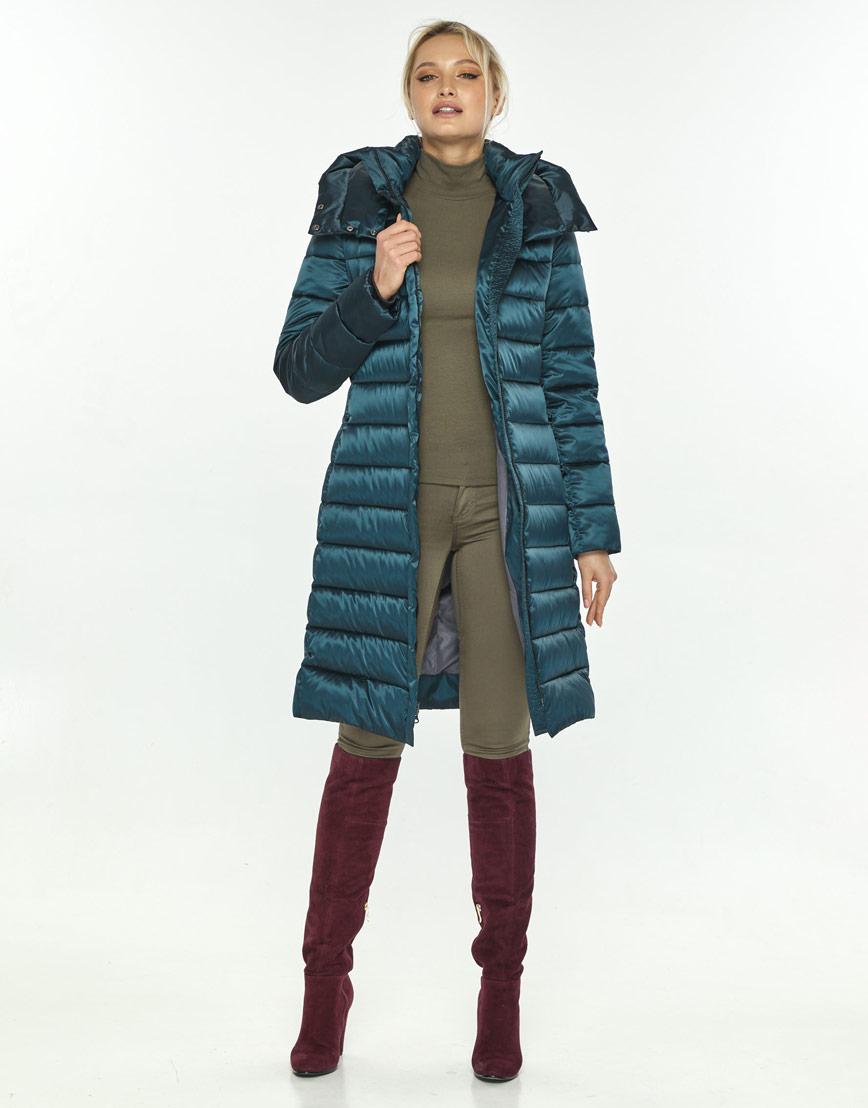 Трендовая зелёная куртка большого размера женская Kiro Tokao 60084 фото 2