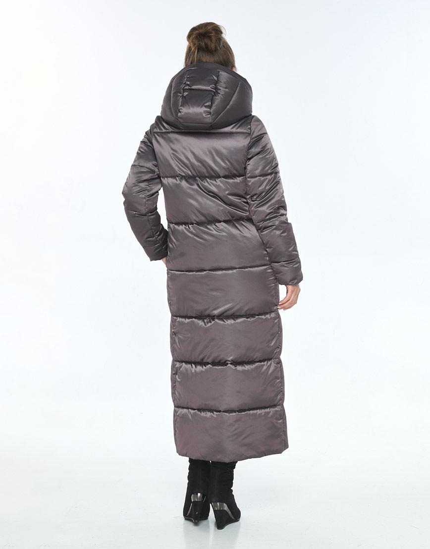 Куртка Ajento капучиновая женская длинная 21972 фото 3