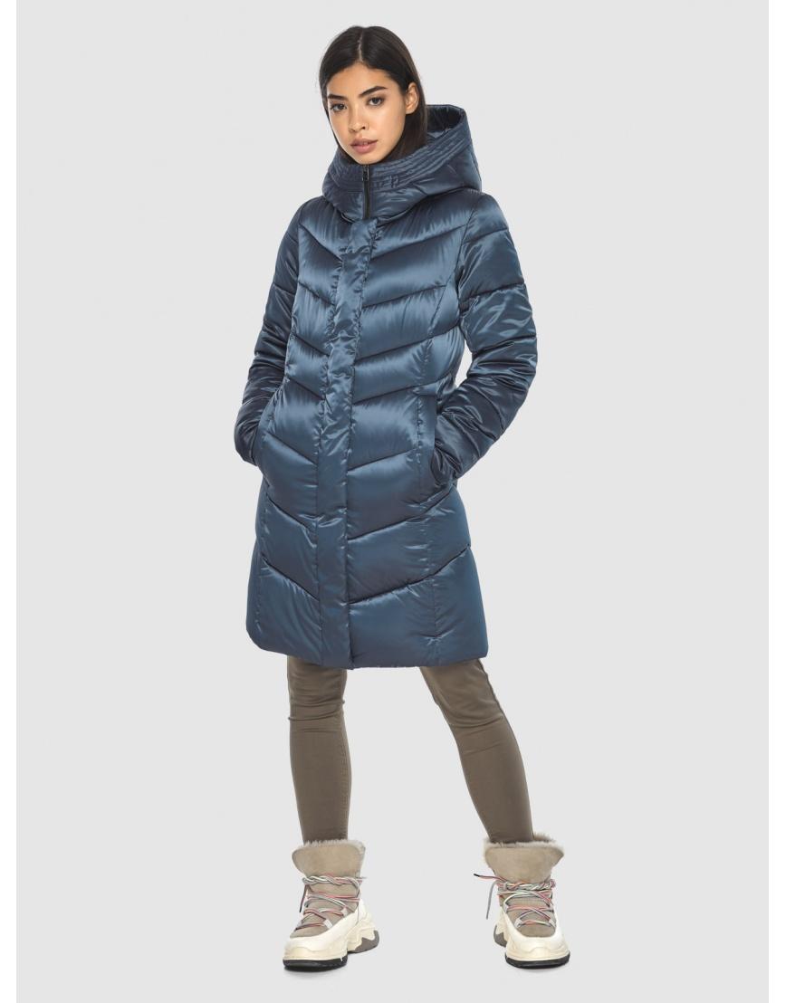 Женская удобная куртка Moc синяя M6540 фото 1