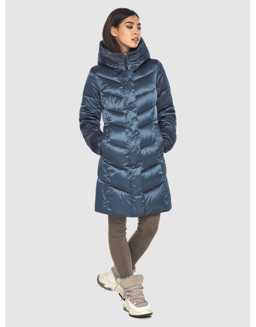Женская удобная куртка Moc синяя M6540 фото 5