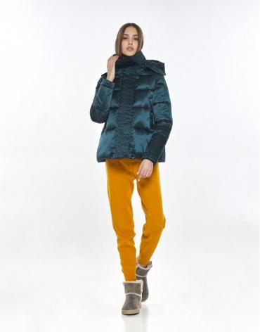 Куртка модная женская Vivacana зелёная весенняя 9742/21 фото 1