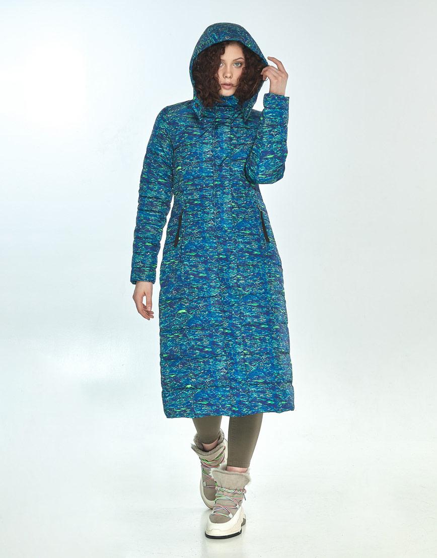 Стильная куртка Moc женская с рисунком зимняя M6430 фото 2