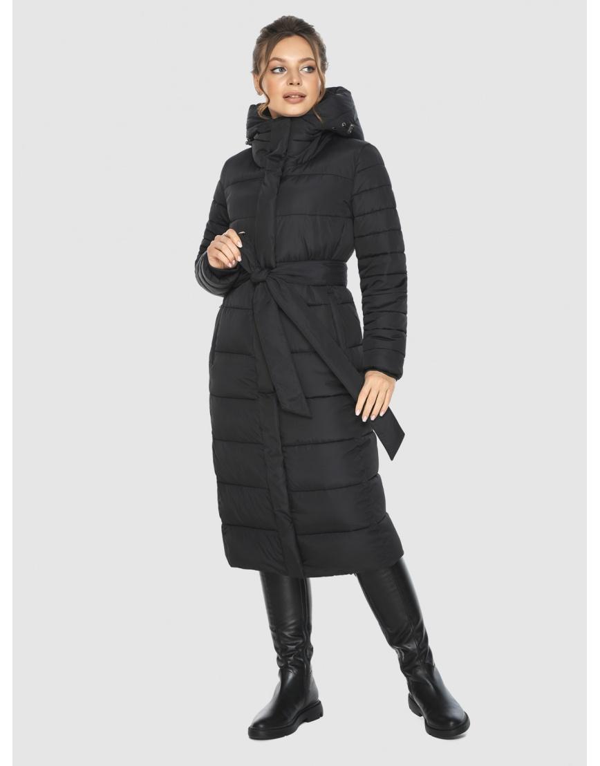 Фирменная подростковая куртка Ajento зимняя чёрная 21152 фото 5