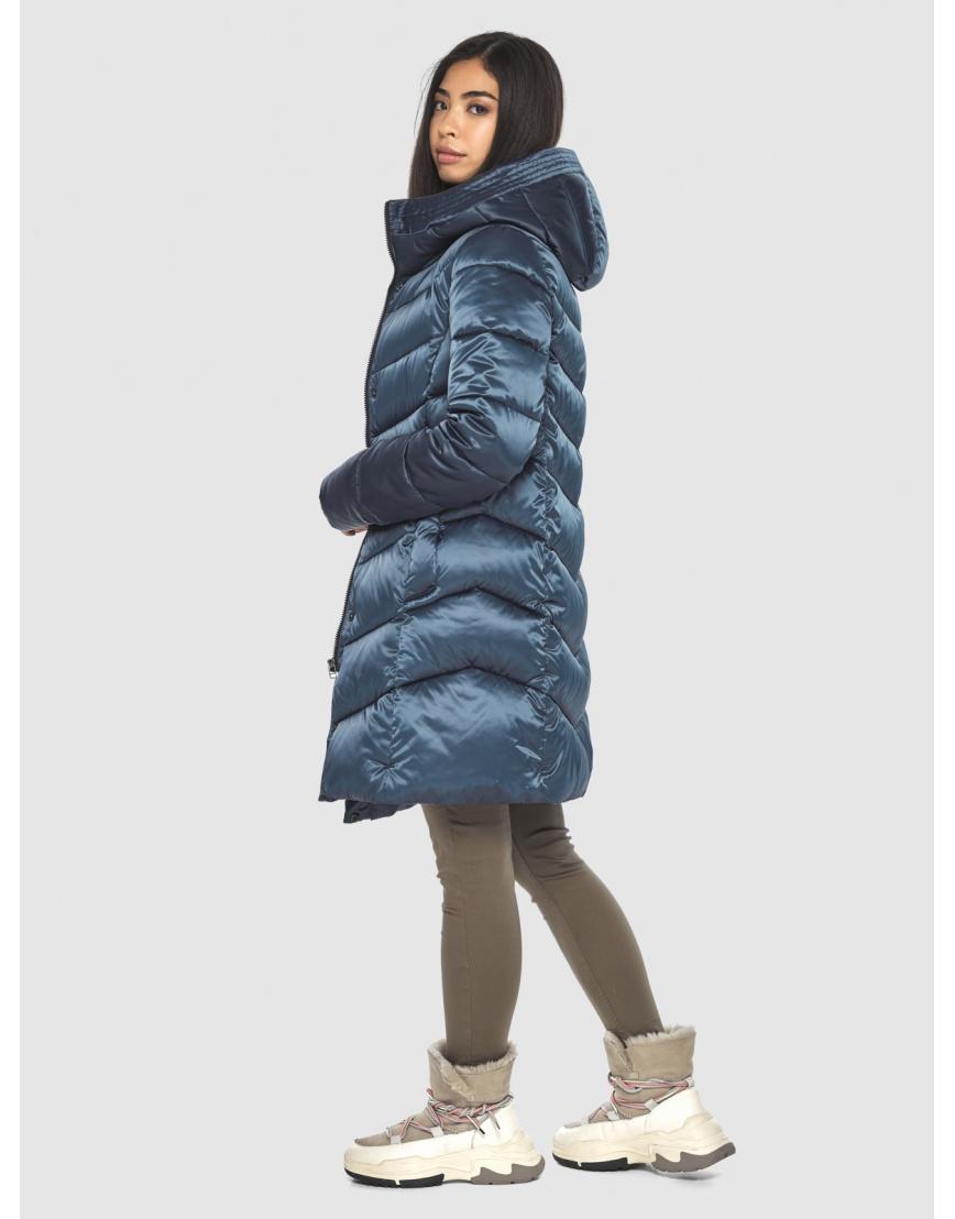 Женская удобная куртка Moc синяя M6540 фото 2