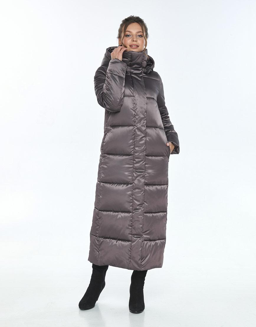 Куртка Ajento капучиновая женская длинная 21972 фото 1