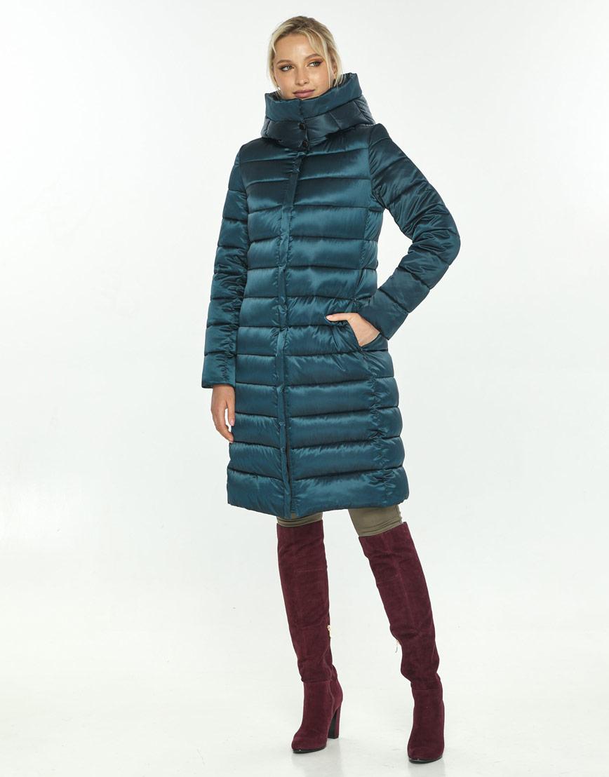 Трендовая зелёная куртка большого размера женская Kiro Tokao 60084 фото 1