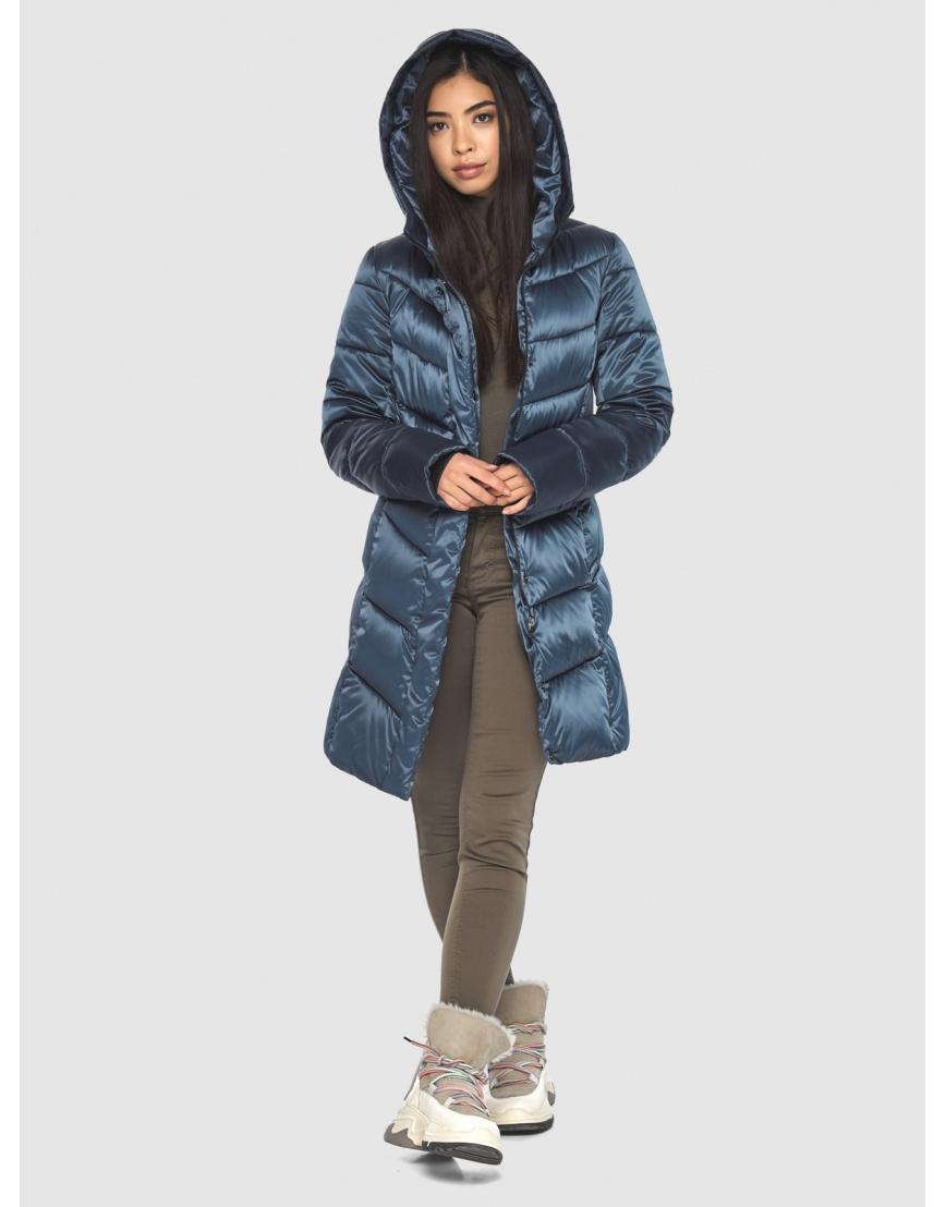 Женская удобная куртка Moc синяя M6540 фото 3