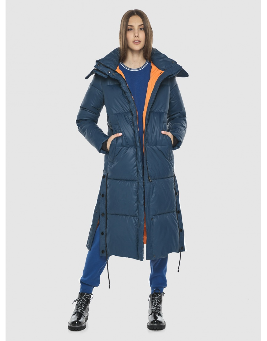 Удлинённая куртка Vivacana синяя женская 7654/21 фото 2