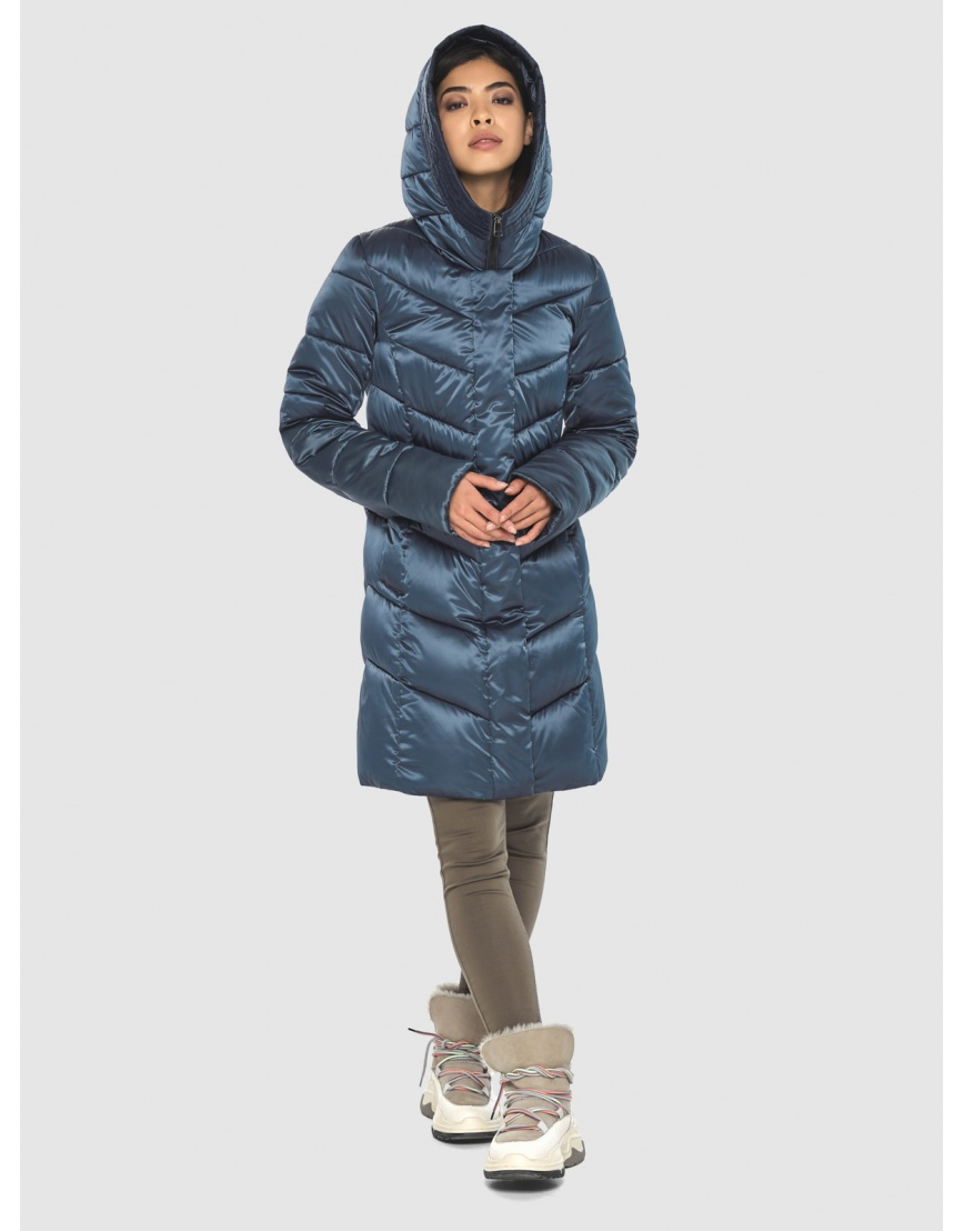 Женская удобная куртка Moc синяя M6540 фото 6