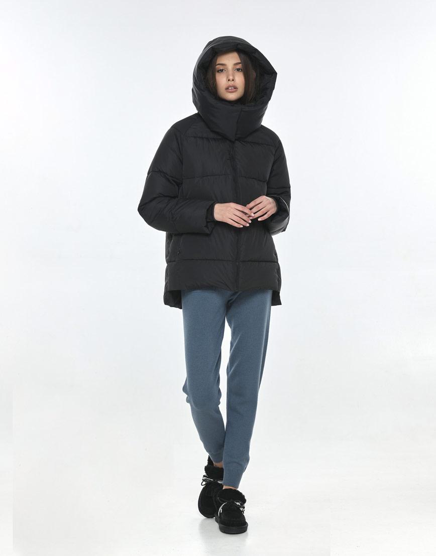 Чёрная куртка Vivacana женская на осень 7354/21 фото 2