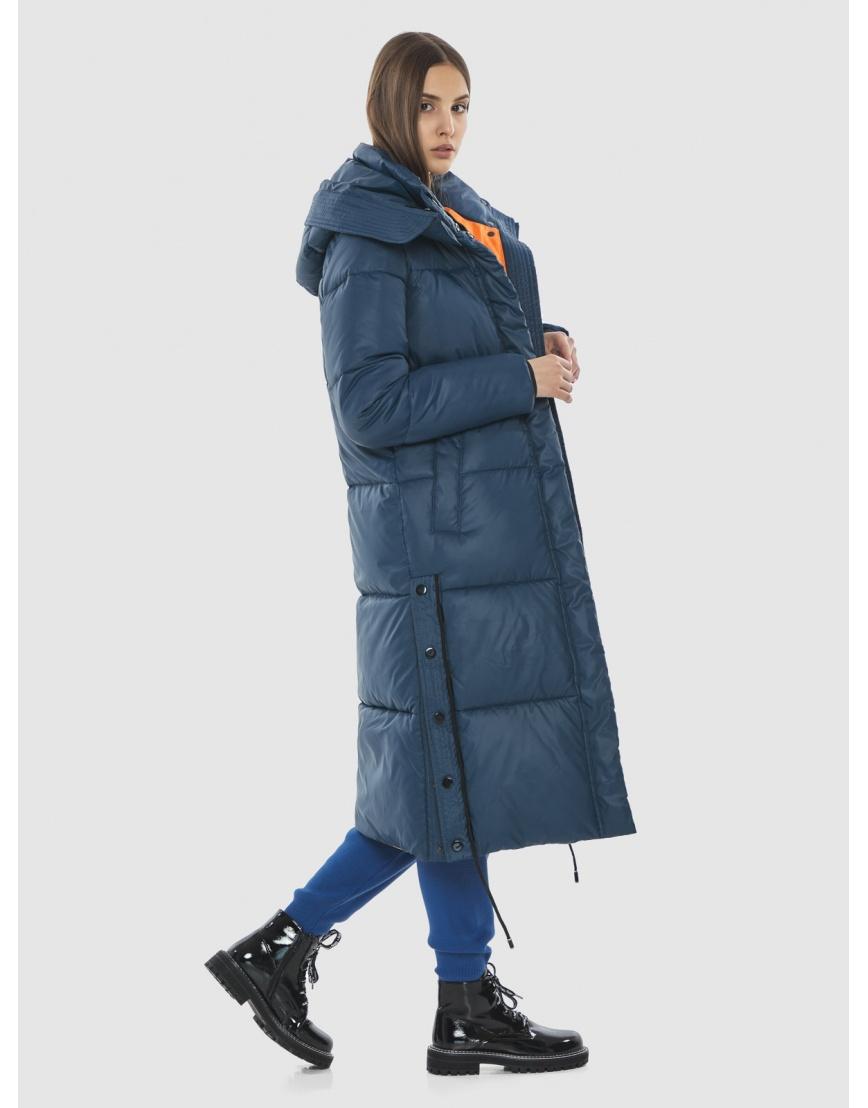 Удлинённая куртка Vivacana синяя женская 7654/21 фото 5