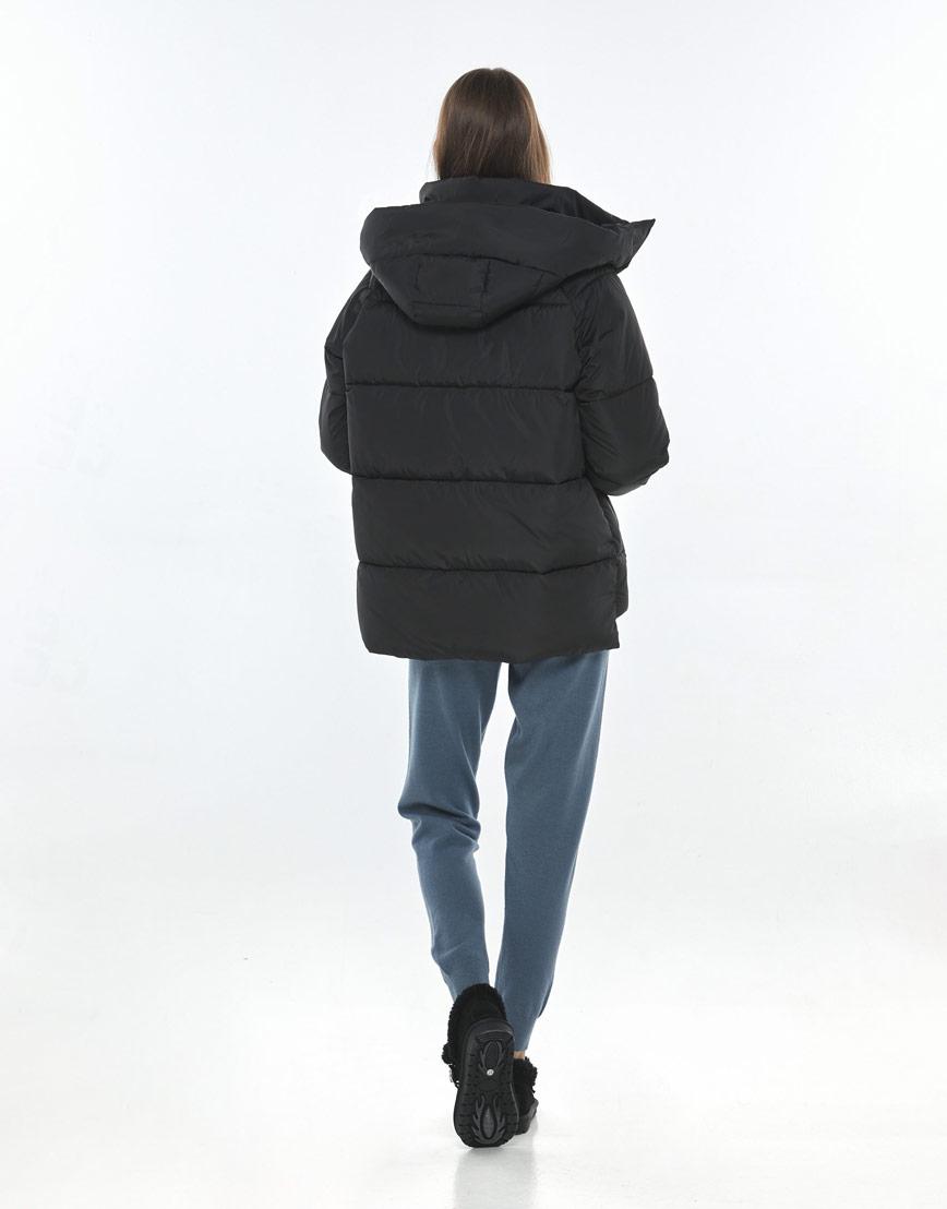Чёрная куртка Vivacana женская на осень 7354/21 фото 3