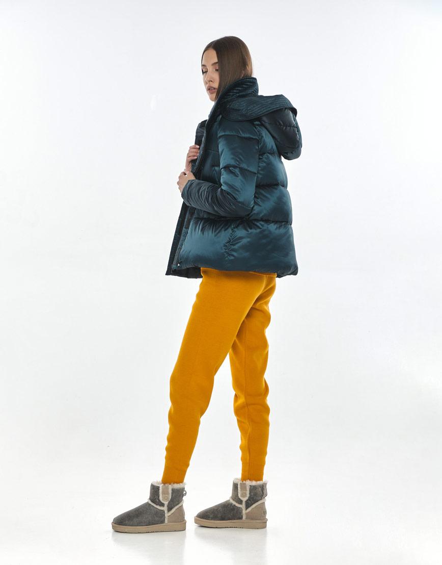 Куртка модная женская Vivacana зелёная весенняя 9742/21 фото 3