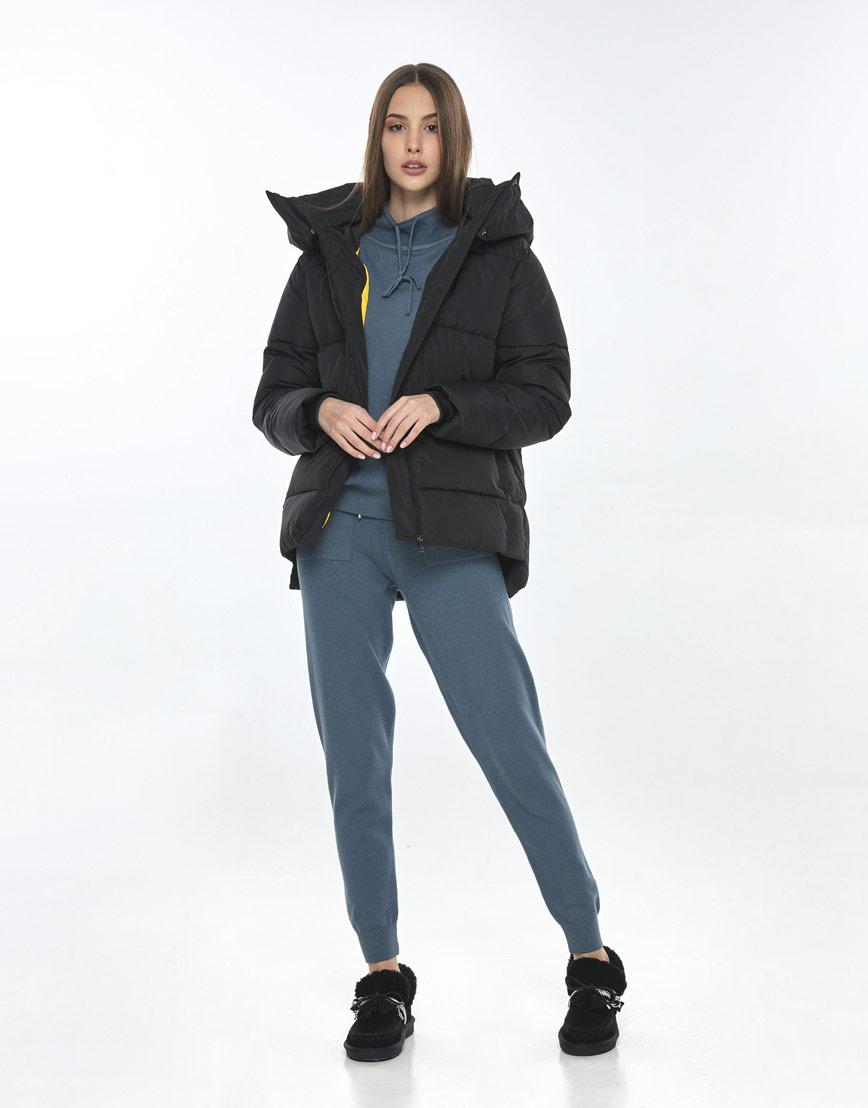 Чёрная куртка Vivacana женская на осень 7354/21 фото 1