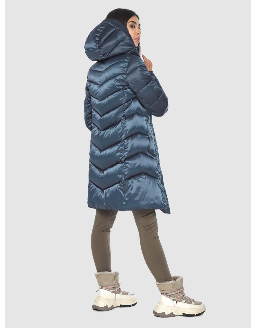 Женская удобная куртка Moc синяя M6540 фото 4