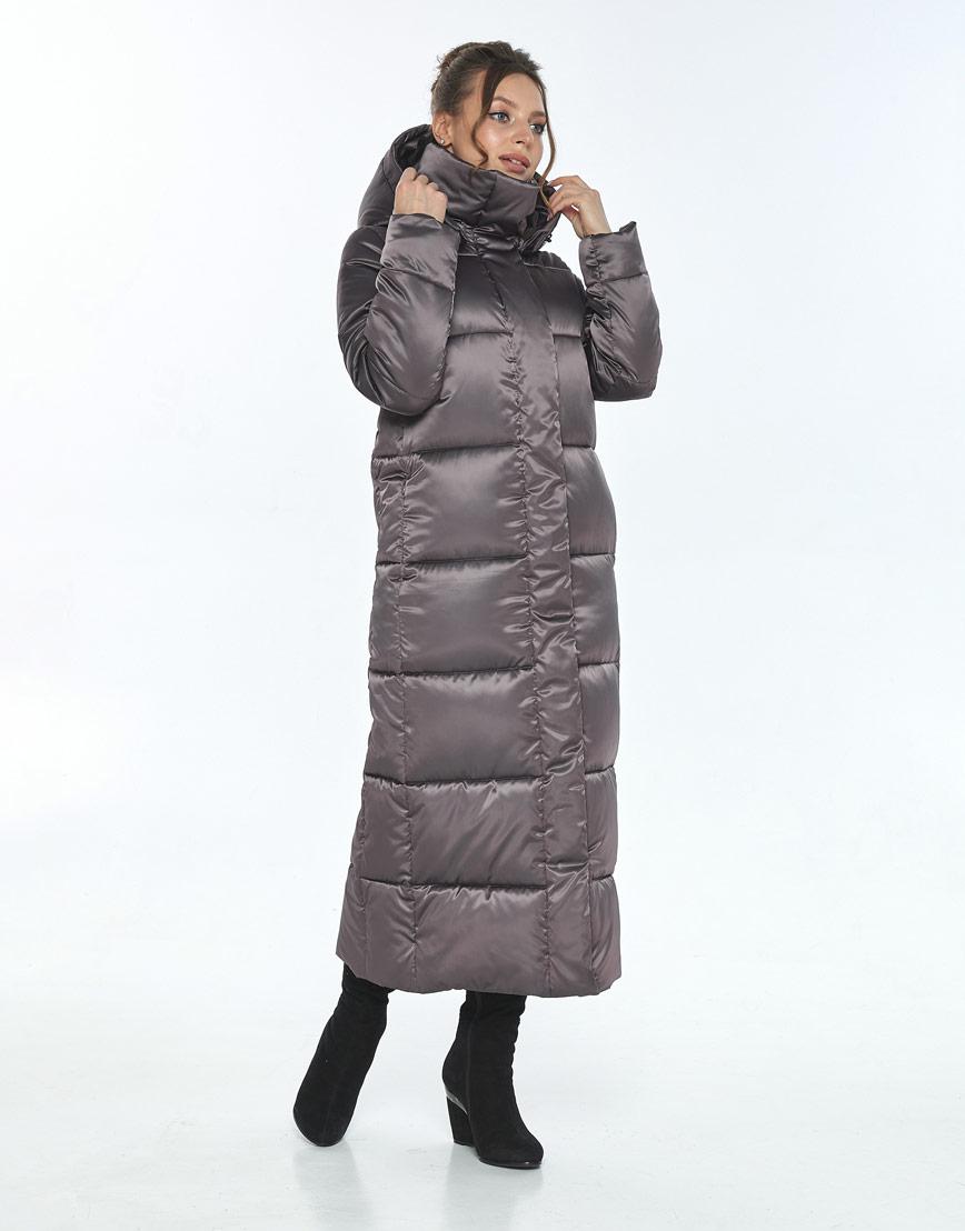 Куртка Ajento капучиновая женская длинная 21972 фото 2